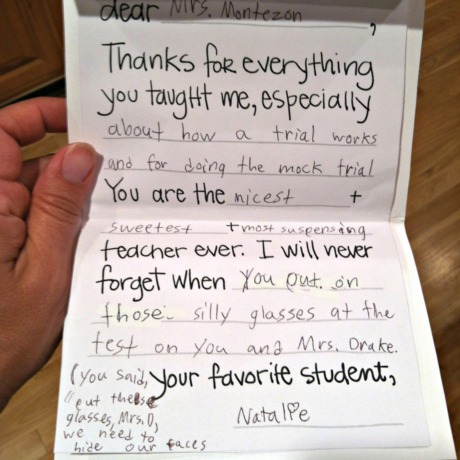 teacher thank you letter Thank you, again, for such a wonderful learning experience, and i hope to learn  from  i would also like to let you know that i have never had a teacher like you.